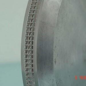 Roldanas aço inox para fios e cabos com relevo
